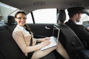 professional chauffeur driven car