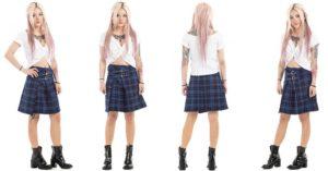 Modern Tartan Plaid Skirt