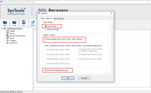 Recover SQL Database