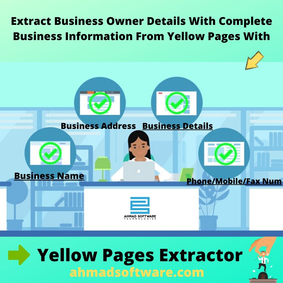 phone number grabber, export yellow pages search results, yellow pages spider, Yellow pages data extractor, extract data from yellow pages to excel
