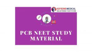PCB NEET Study Material