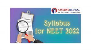 Syllabus for NEET 2022