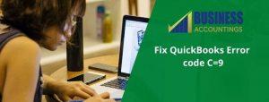 How to fix QuickBooks Error C9