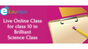 Live Online Class for class 10 in Brilliant Science Class