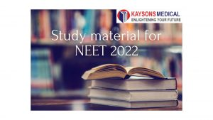 Study material for NEET 2022