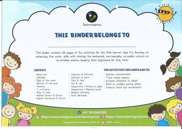 Buy Preschool Learning Binder Online India
