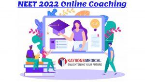 NEET 2022 online coaching