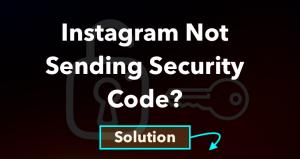 Instagram not sending security code