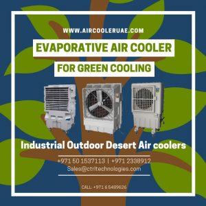 Evaporative air cooler for Green cooling like desert outdoor industrial cooler